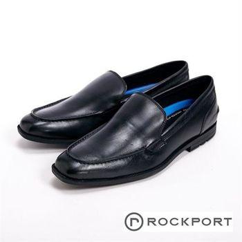 【Rockport】直套半休閒尖頭男鞋-黑