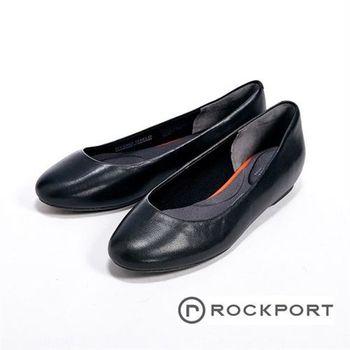 【Rockport】全方位動能系列/Black WP隱藏式楔型跟鞋-黑