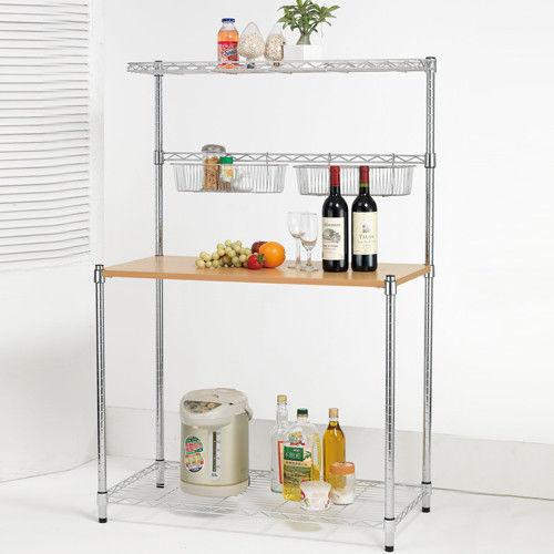 【莫菲思】百變金鋼-多用途廚房收納架90x45x165cm