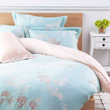 【Betrise】飄絮-特大100%天絲TENCEL四件式鋪棉兩用被床包組