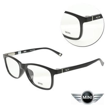 【MINI】復古長方亮黑膠框光學眼鏡(A M58010-007)