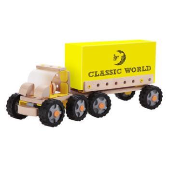 Classic world 德國經典木玩 客來喜 DABA 經典卡車組(55PCS)