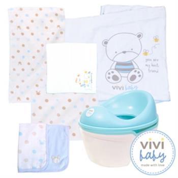 【ViVibaby】便器學習組(便器+雙面浴巾+澡巾+雙面手帕+手帕*2)