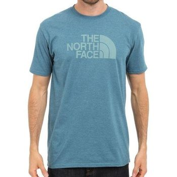 【The North Face】2016男經典標誌珊瑚藍圓領短袖ㄒ恤(預購)