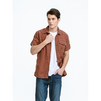 【FOXFRIEND 狐友】SUPPLEX 杜邦纖維 抗UV短袖襯衫(2846)