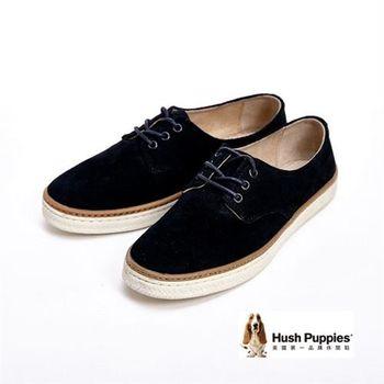 Hush Puppies 經典簡約綁帶式休閒女鞋-黑