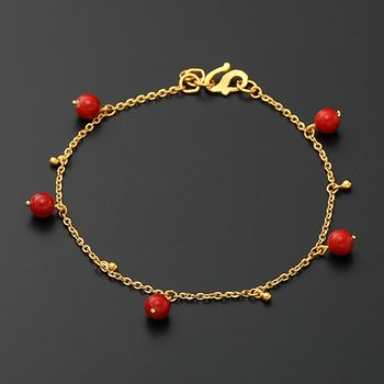 D.M.紅豔黃金手鍊
