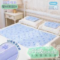 日本三貴SANKI 3D網冰涼床墊 1床2枕(小樹風/綠水滴) (10.8kg) 可選