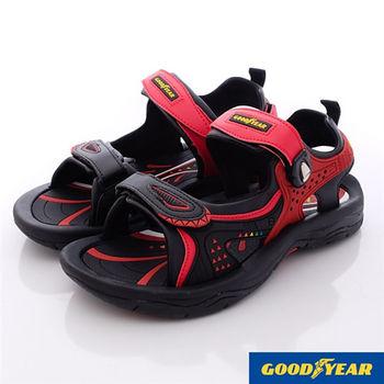 GOODYEAR-強力磁扣運動涼鞋-MS63612紅(24cm~29cm)-行動