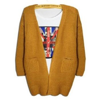 [協賀]長款針織開衫毛衣外套