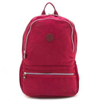 COUNT DUCK 美系悠活輕量運動型後背包-CD-012-沉穩紅