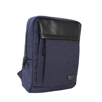estilo - 西班牙品牌 簡約風尚系列 清新雋永 兩用後背包 - 深藍
