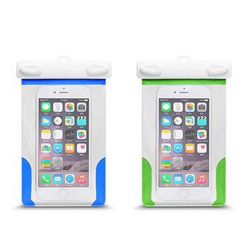 透明 可觸控手機防水套 防水袋 卡扣設計 附臂帶