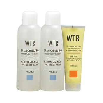 義大利原裝 WTB昂賽芙 洗護超值組 溫和平衡洗髮 1000mlx2+果酸賦活潤護髮膜250ml