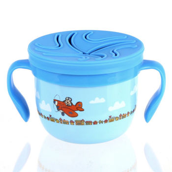 美國 Eco Vessel 兒童不鏽鋼點心碗-狗狗藍