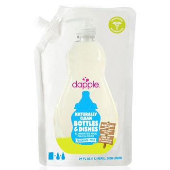 Dapple天然奶瓶及餐具清潔液-無香精 1L(補充包)