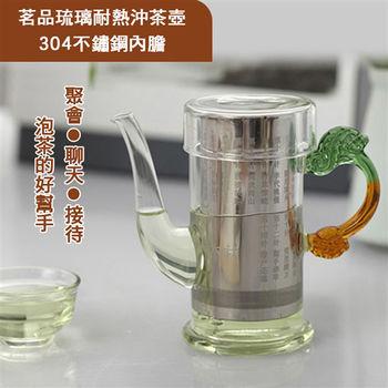 【ENNE】茗品琉璃耐熱沖茶壺 - 不銹鋼內膽 - 250ml (K0294-B)