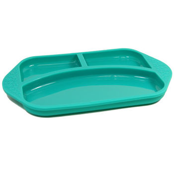 【MARCUS&MARCUS】動物樂園矽膠兒童餐盤-大象(綠)-行動