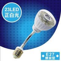 明沛 23LED紅外線感應燈彎管E27螺旋型正白光MP-4329-1