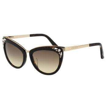 SWAROVSKI-貓眼水鑽 太陽眼鏡(琥珀色)SW102F