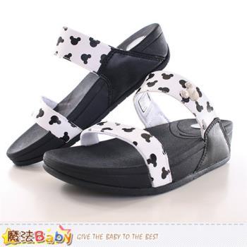 魔法Baby 成人女款涼拖鞋 迪士尼米奇正版時尚拖鞋~sh9820