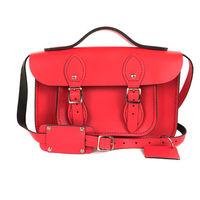 【The Leather Satchel Co.】11吋 英國手工牛皮可手提劍橋包 (粉彩紅)