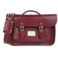 【The Leather Satchel Co.】14吋 英國手工牛皮可手提劍橋包 (葡萄紅)