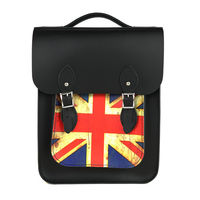 【The Leather Satchel Co.】英國手工牛皮經典後揹包 手提包(復古國旗)