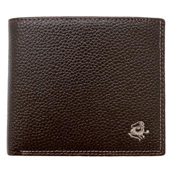 SINA COVA 老船長荔紋牛皮短皮夾SC31601-3-咖啡