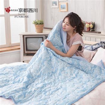 京都西川 三重酷涼夏輕膚涼被140X190cm(藍色)