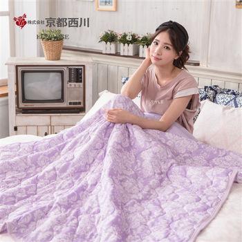 京都西川 三重酷涼夏輕膚涼被140x190cm(紫色)