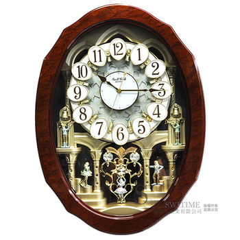 【RHYTHM日本麗聲】 歐式奢華施華洛士奇水晶魔幻音樂鐘