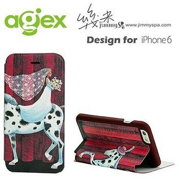 幾米 iphone 6 /6s 4.7吋 掀蓋皮套-斑馬新娘
