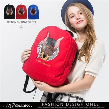 【1/2princess】獨家設計款杜賓美式街頭背包(3色)