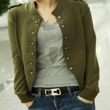 [協賀]韓版英倫風大碼修身顯瘦開衫