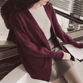 [協賀]韓版寬鬆針織衫