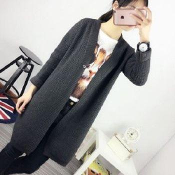 [協賀]韓版寬鬆中長款針織衫