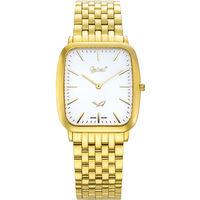 Ogival 瑞士愛其華  禪翼系列 超薄經典方形石英腕錶 金色-白面 393MK