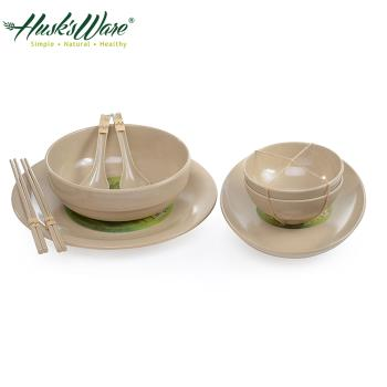 【美國Husks ware】稻殼天然無毒環保碗盤餐具9件組