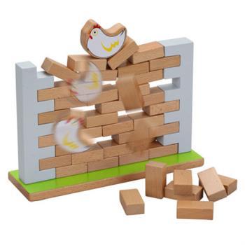 Classic world 德國經典木玩 客來喜 木製母雞疊疊樂