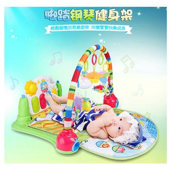 【孩子國】四合一小羊羊加厚款腳踏鋼琴健力架/音樂遊戲毯