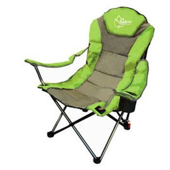 【Outdoorbase】太平洋。高背。三段式休閒椅 綠/灰 25018-行動