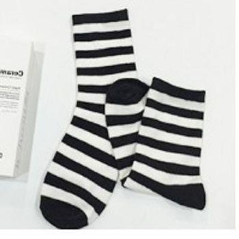 [協賀]可愛條紋短筒襪子