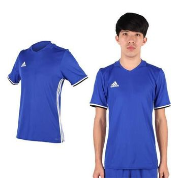 【ADIDAS】男短袖T恤-短T運動 休閒 V領 愛迪達 藍白