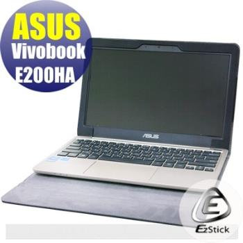 【EZstick】ASUS Vivobook E200HA 系列專用 黑色筆記本款皮套