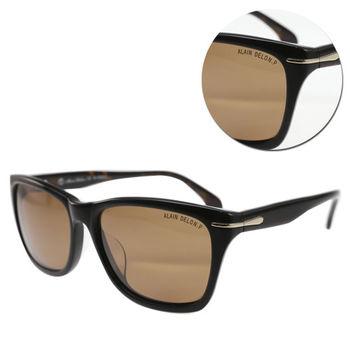 【ALAIN DELON 亞蘭德倫】偏光方形茶色琥珀框太陽眼鏡(AD5538-C539)