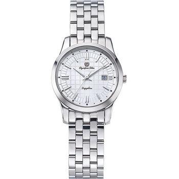 奧林比亞之星 Olympia Star- 別具一格都會時尚女錶-白58057LS