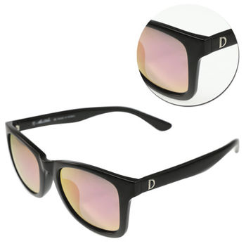 【ALAIN DELON 亞蘭德倫】偏光水銀紫色亮黑太陽眼鏡(AD20337S-B3)