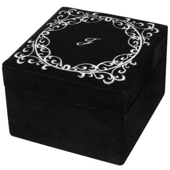 JILL STUART 黑色絲絨珠寶盒