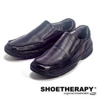 SAPATOTERAPIA 巴西輕便有機素面直套皮鞋-黑